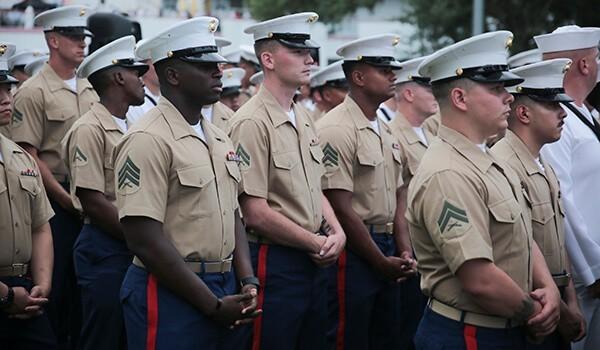 3/2 Marines fall in for Fleet Week Port Everglades